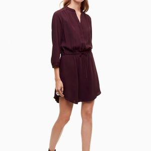 Aritzia Babaton Bennett Silk Shirt Dress Cocktail